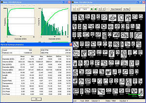 VisualSpreadsheet by Fluid Imaging Technologies FlowCam for Particle Analysis
