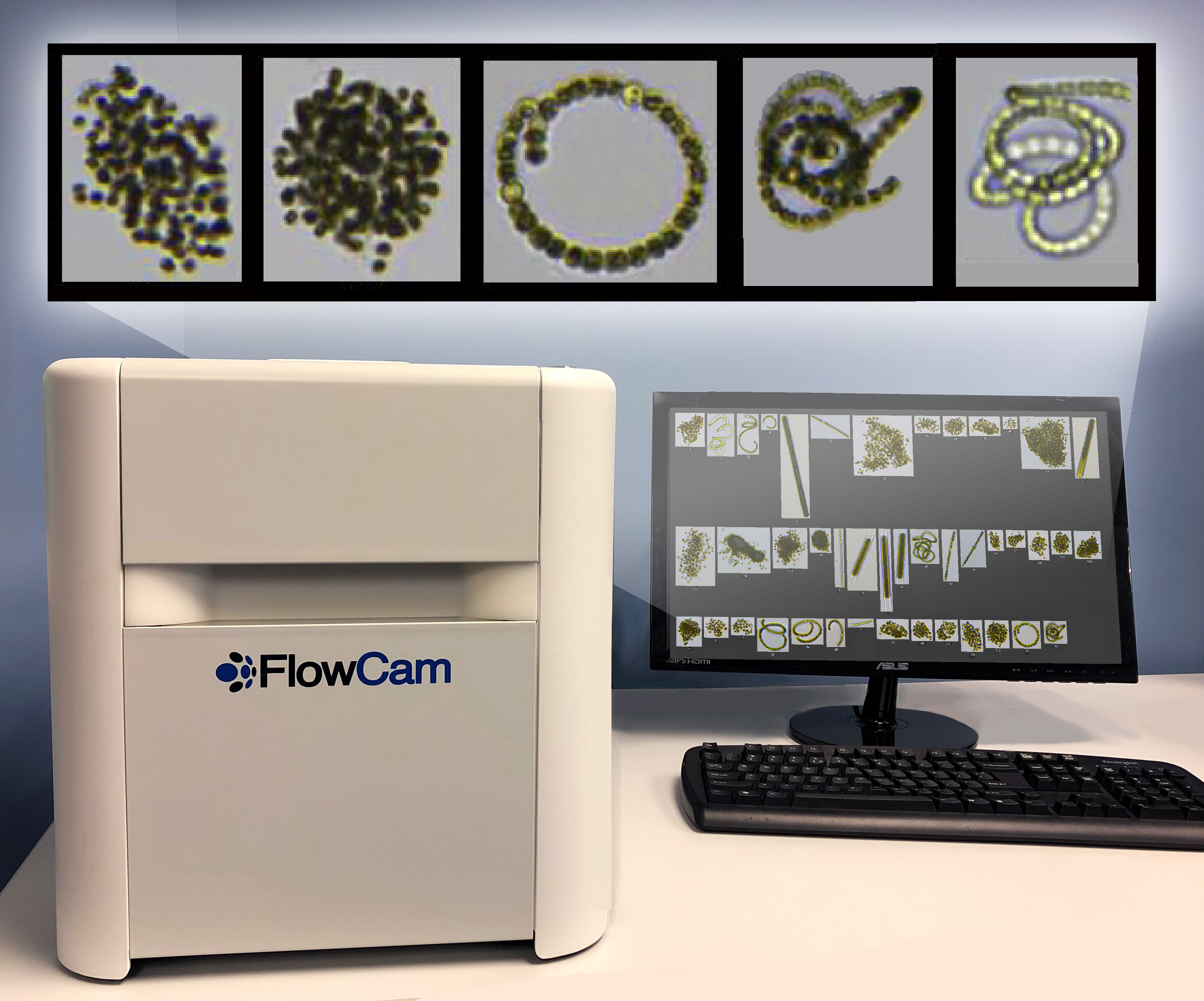 FlowCam Cyano benchtop w. collage